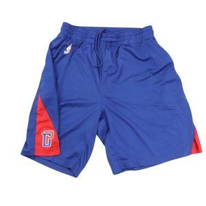 Nike XL Detroit Pistons NBA Authentic Shorts Blue